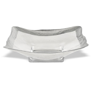 Square Silver Leaf Glass Bowl D243S