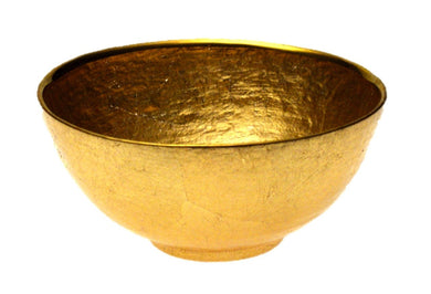 Glamour Gold Leaf 6 inches Round Bowl