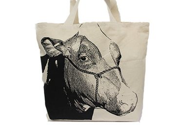 Cow 2 Tote Bag Large
