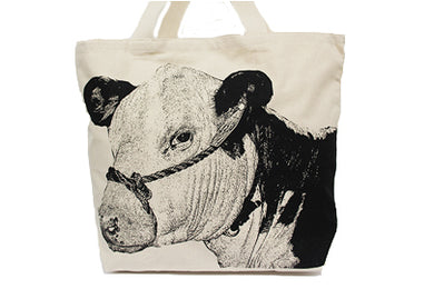 Cow 3 Tote Bag Large