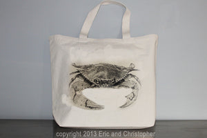 Crab Tote Bag Large