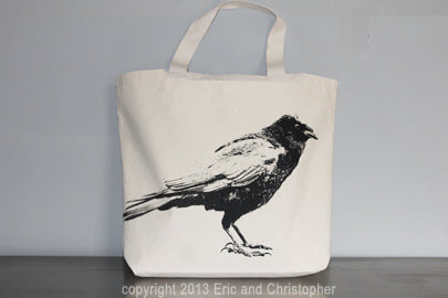 Crow Tote Bag Large