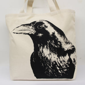 Crow Head Tote Bag Large