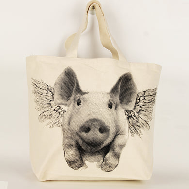 Flying Pig Tote Bag Large