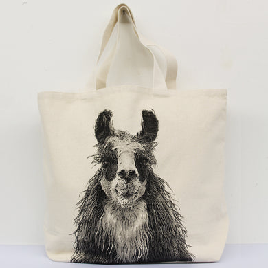 Llama 1 Head Tote Bag Large