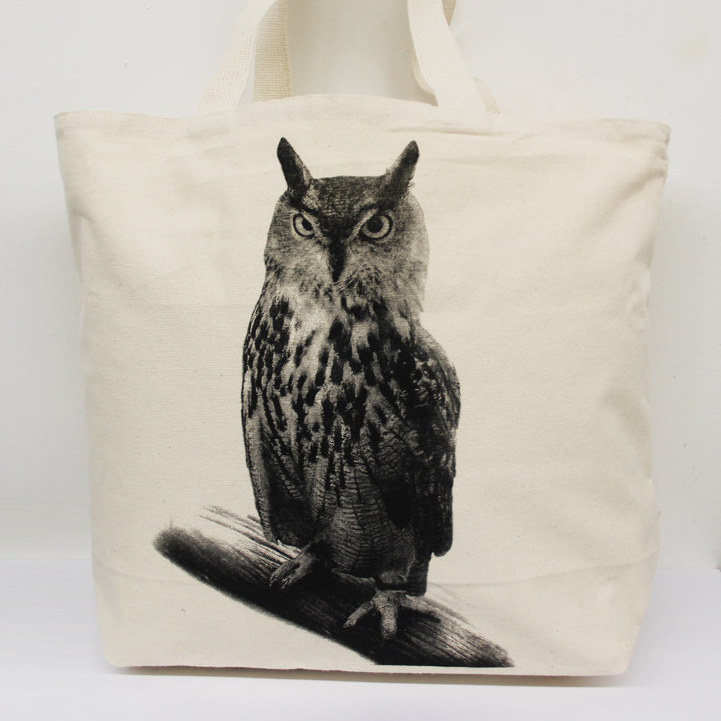 Owl Tote Bag Large