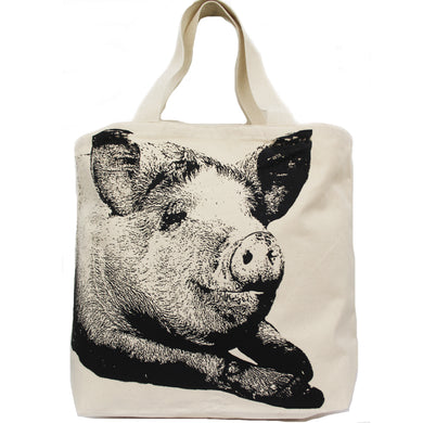 Pig Head Tote Bag Large