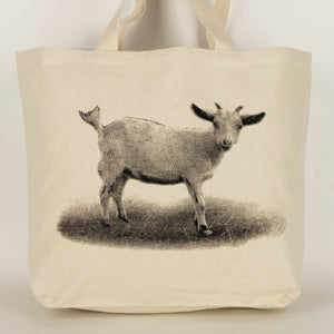Baby Goat Tote Bag Small