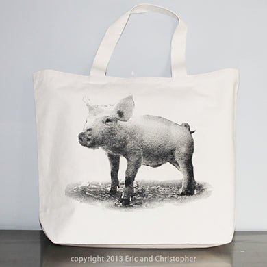 Baby Piglet Tote Bag Small