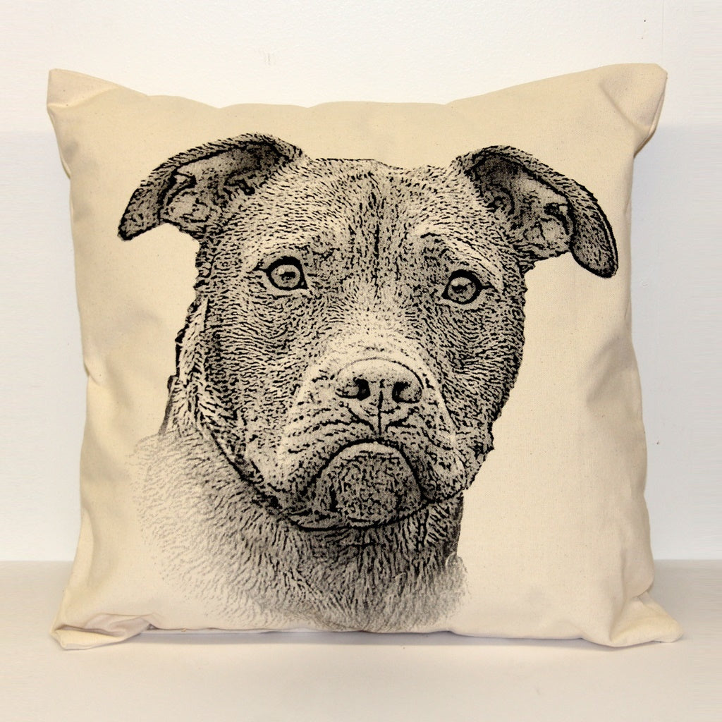 Pitbull Decorative Pillow Large