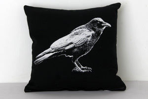 Crow Full Decorative Pillow Black Large