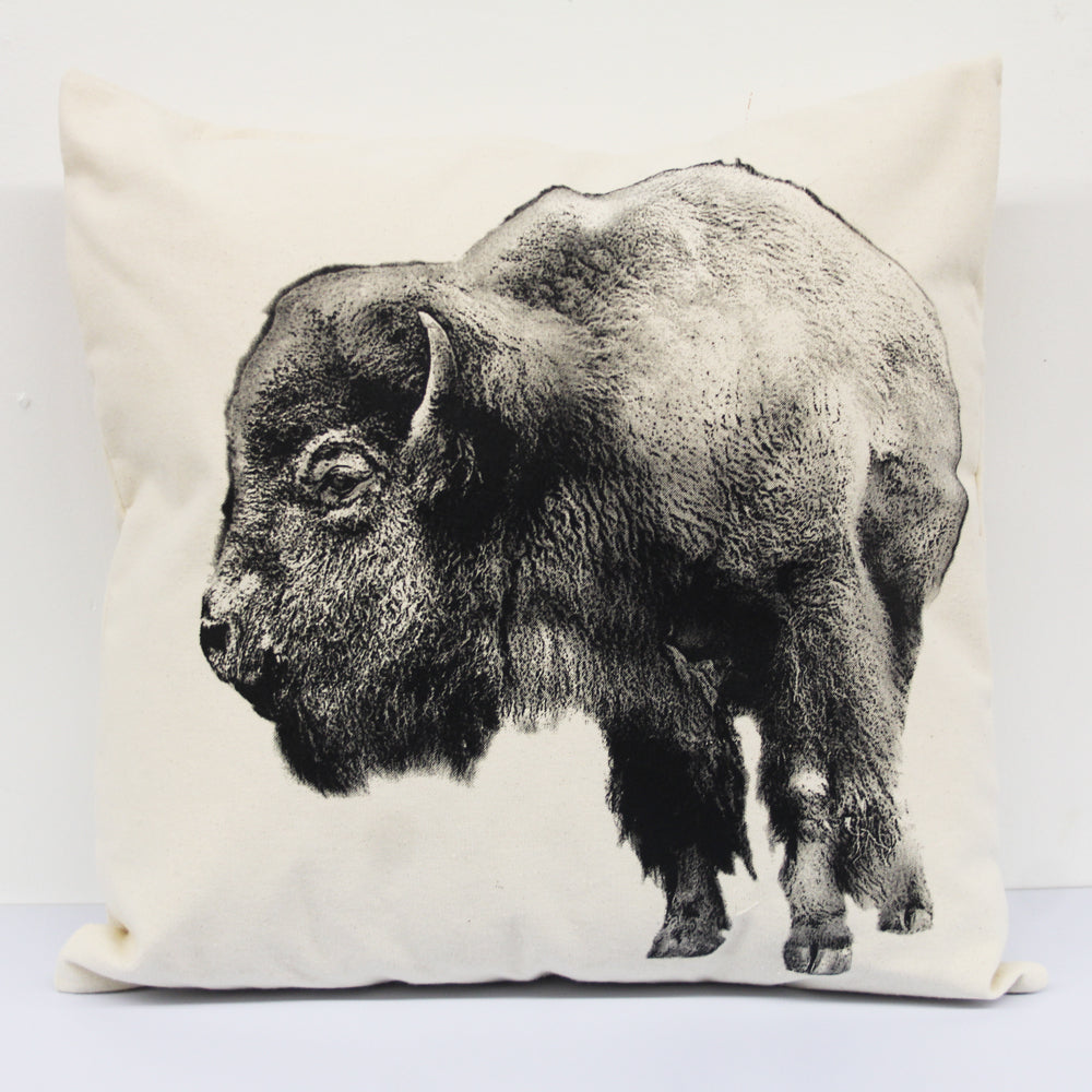 Bison Decorative Pillow Large