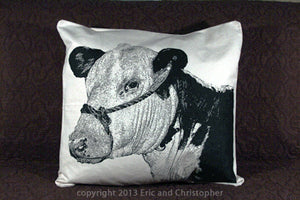 Cow 3 Decorative Pillow Large