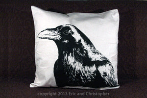 Crow Head Decorative Pillow Large