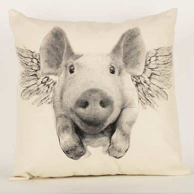 Flying-Pig Decorative Pillow Large