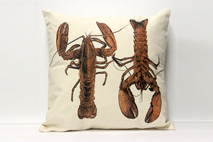 Lobster Red Decorative Pillow Large