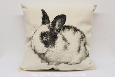 Bunny 3 Decorative Pillow Medium
