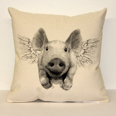Flying Pig Decorative Pillow Medium