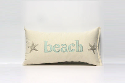 Beach With Starfish Decorative Pillow Small
