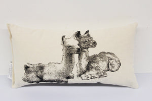 Llama Pair Decorative Pillow Small