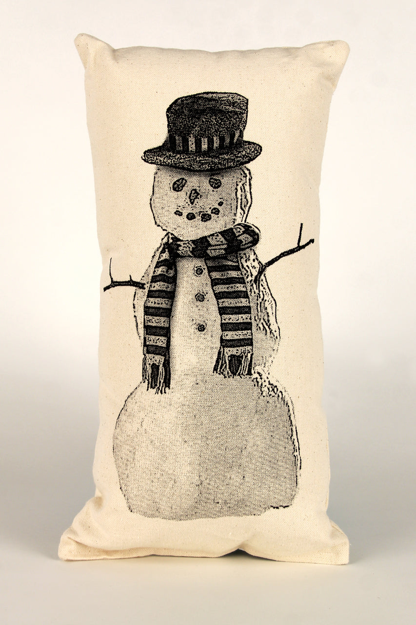 Snowman Decorative Pillow Small