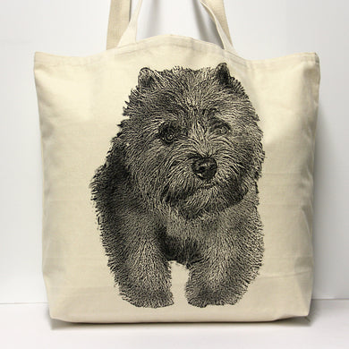 Cairn Terrier Tote Bag Large