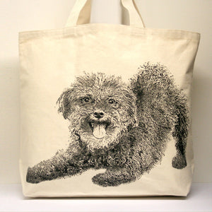 Mini Poodle Tote Bag Large