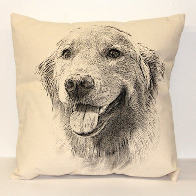 Golden Retriever Decorative Pillow Large