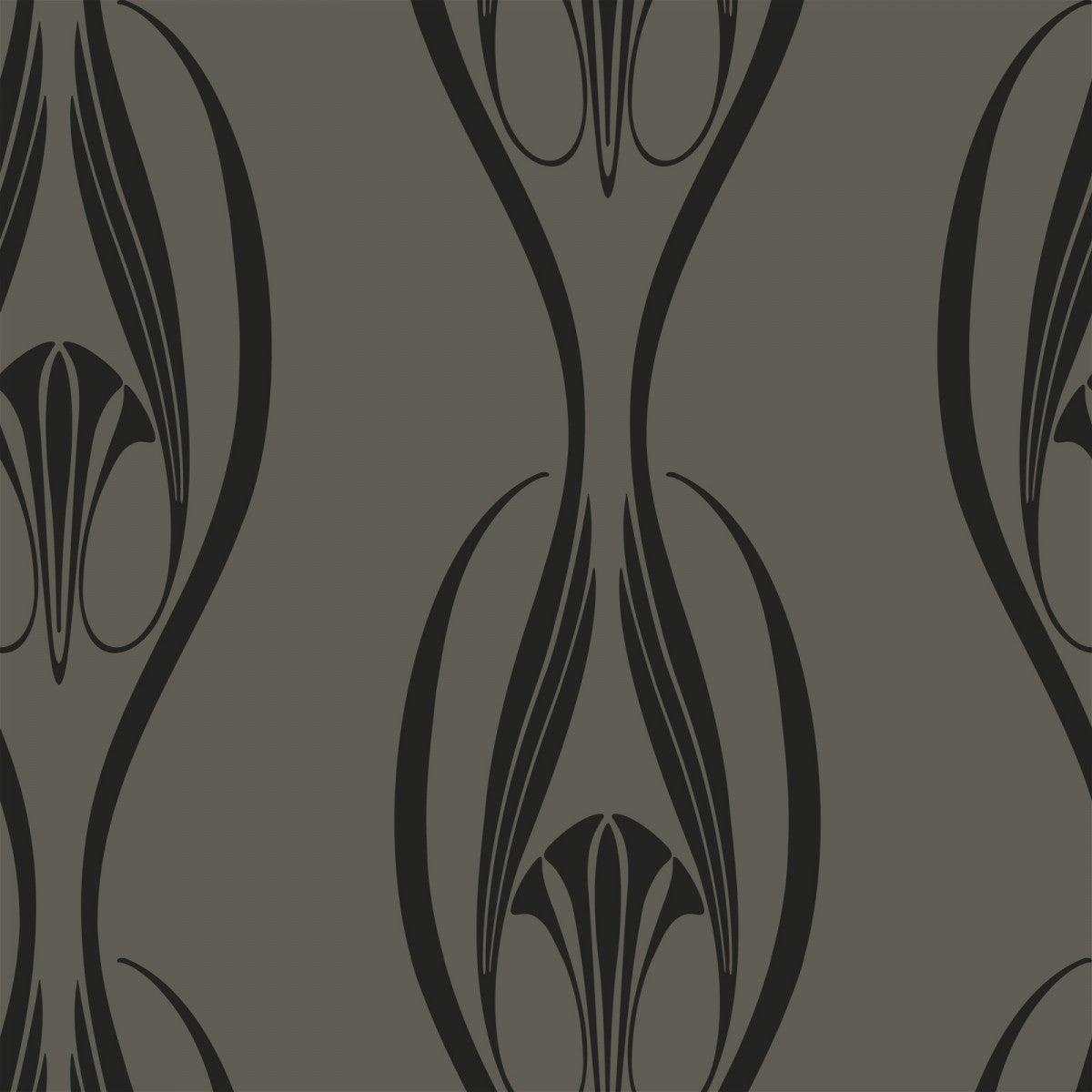 Black and Clay ET013 Etta Self-Adhesive Wallpaper
