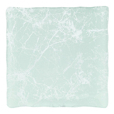 Square Tray White Marble Glass Decor