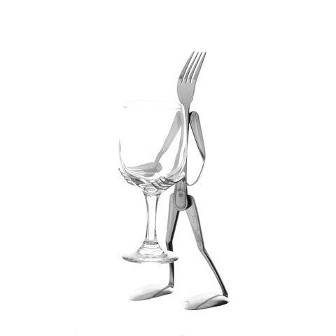 Glass Stand Table Top Fork