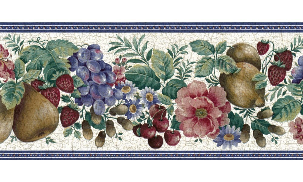 Fruits and Flower FE30962 Wallpaper Border
