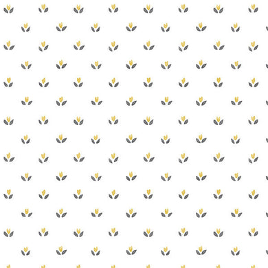 Yellow Black Country Mini Floral Spot FK34403 Wallpaper