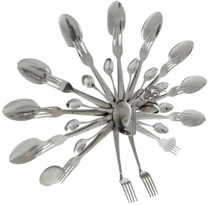 Peacock Spoon and Fork Art