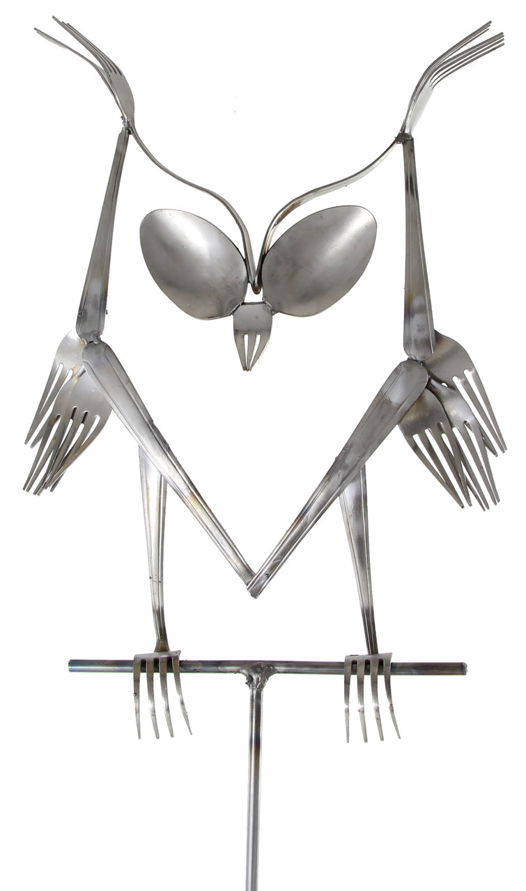 Owl Spoon and Fork Art