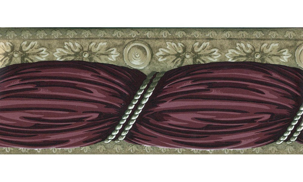 Maroon Running Design A70179B Wallpaper Border