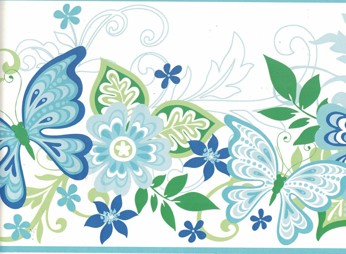 Butterfly Gir94072b Wallpaper Border For Walls Gifted Parrot