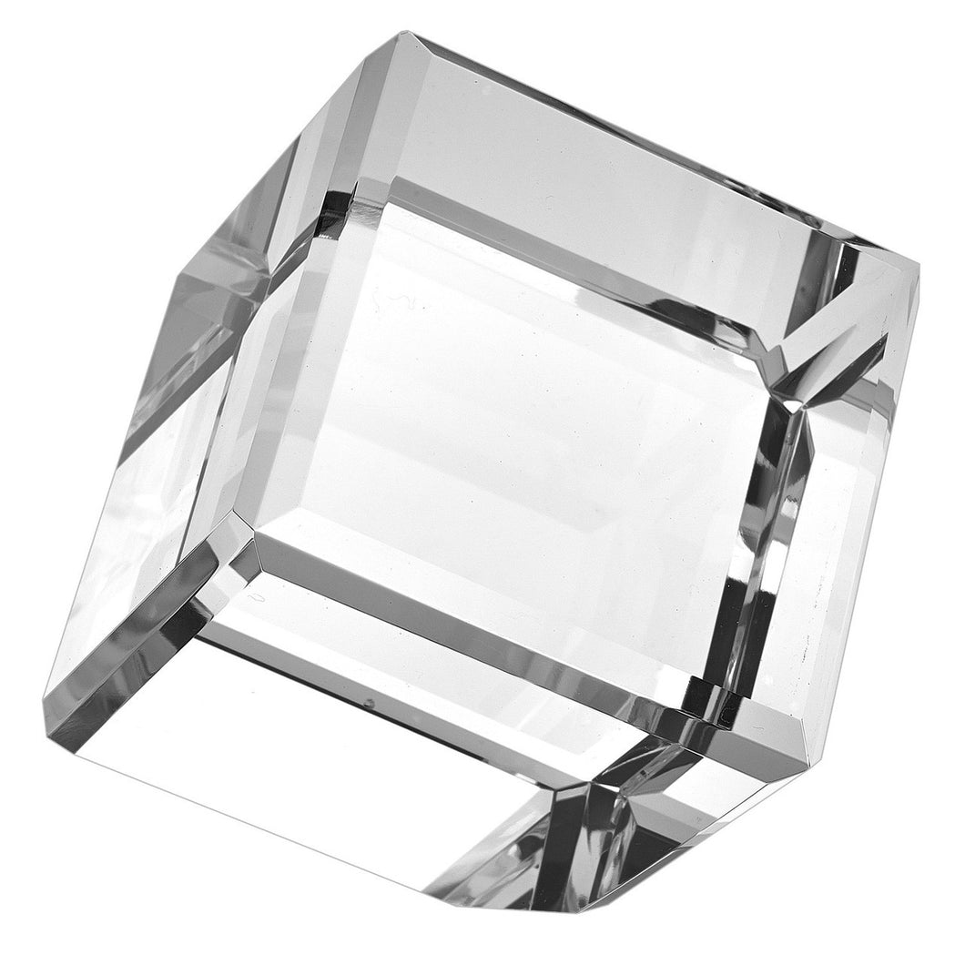 Crystal Glass Cube On Corner