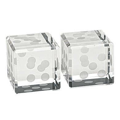 Crystal Glass Pair of Dice