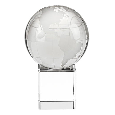 Clear Asian Globe With A Scope Base Glass Art