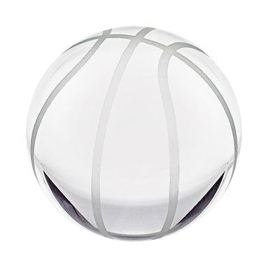 Basketball Crystal Glass Paperweight