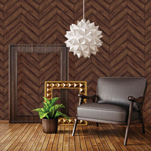 Load image into Gallery viewer, Herringbone Walnut Self-Adhesive HE093 Wallpaper