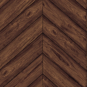 Herringbone Walnut Self-Adhesive HE093 Wallpaper