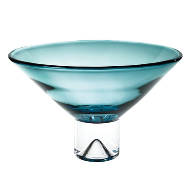 Monaco Peacock Blue Centerpiece Bowl