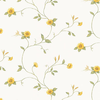 Yellow Sunflower Floral Trail KV27408 Wallpaper