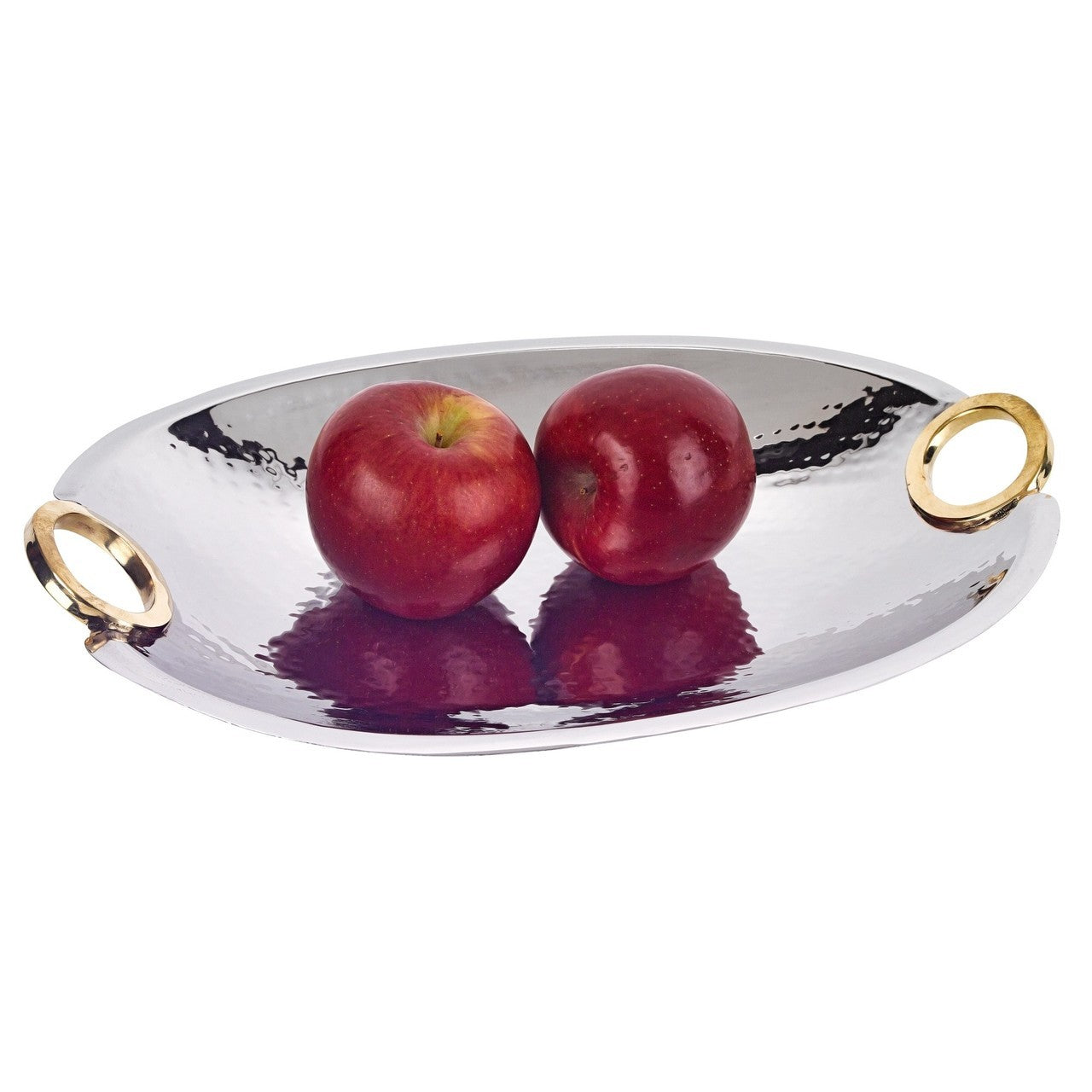 Rings Stainless Steel and Brass Oval Bowl