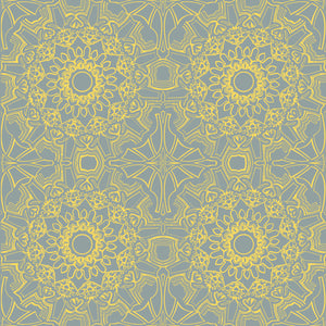 Medallion Sunrise Self-Adhesive ME058 Wallpaper