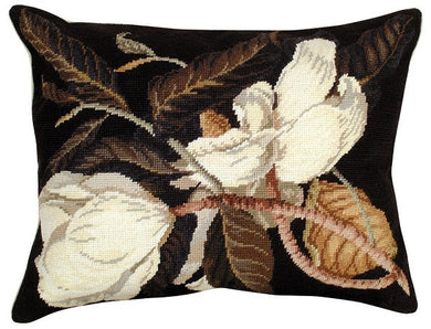 Magnolia 16 x 20 Needlepoint Pillow