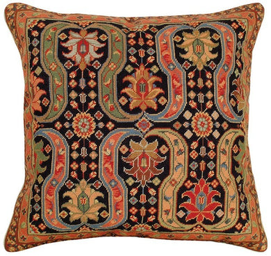 Afshar 18x18 Petitpoint Decorative Pillow