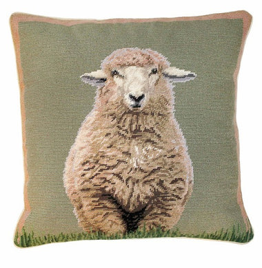 Standing Sheep 18x18 Needlepoint Pillow